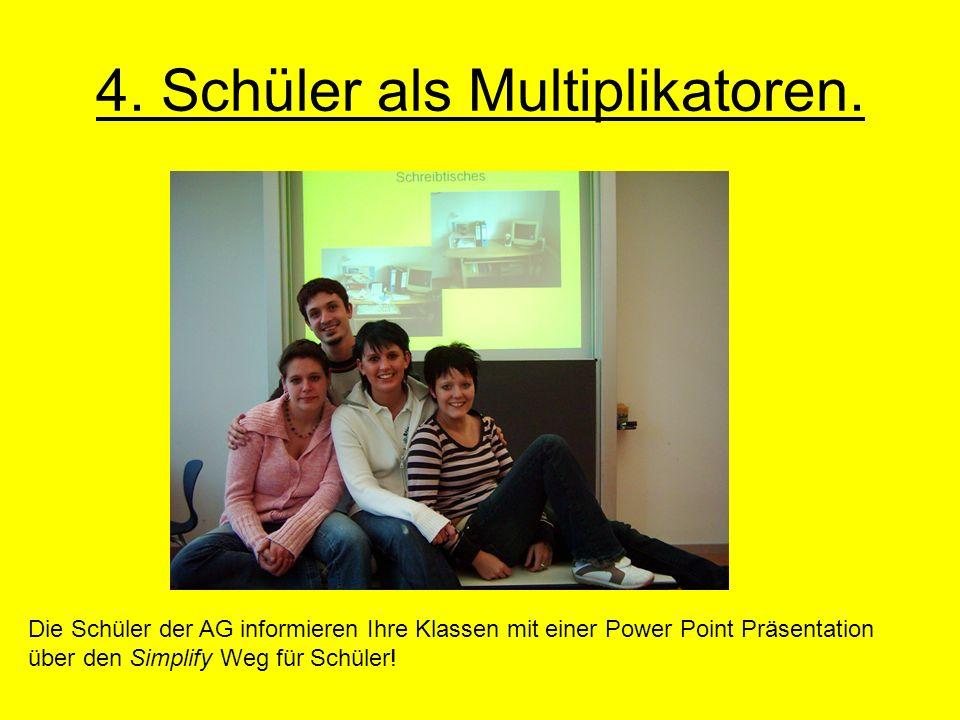 4. Schüler als Multiplikatoren.