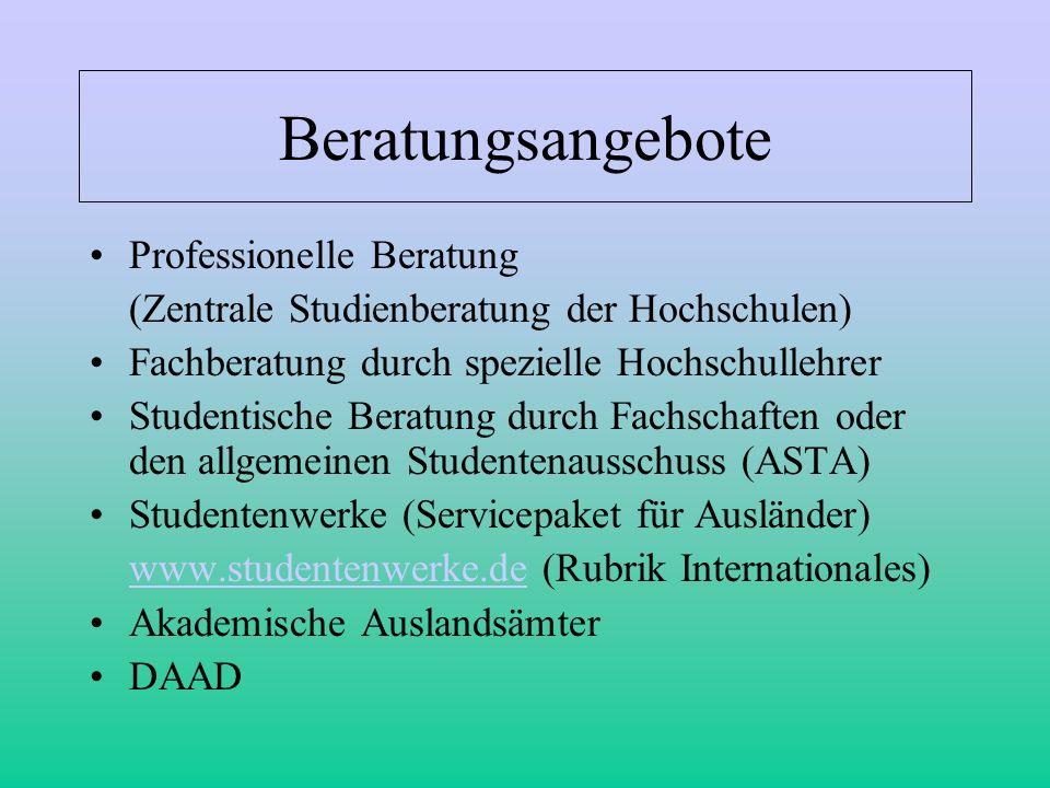 Beratungsangebote Professionelle Beratung