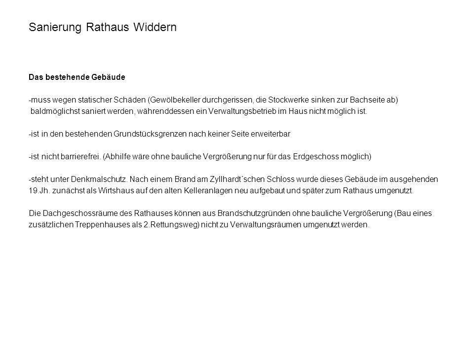 Sanierung Rathaus Widdern