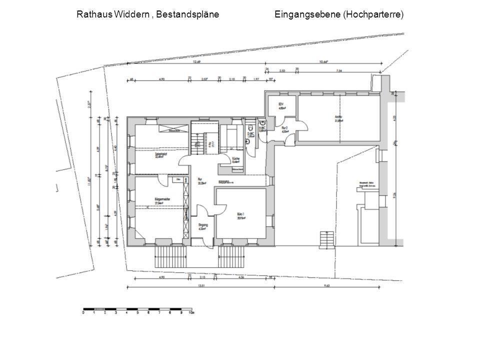 Rathaus Widdern , Bestandspläne Eingangsebene (Hochparterre)