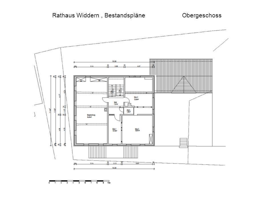 Rathaus Widdern , Bestandspläne Obergeschoss