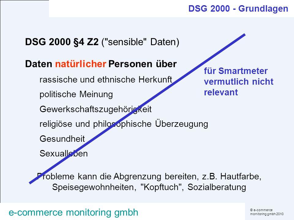 DSG 2000 §4 Z2 ( sensible Daten)