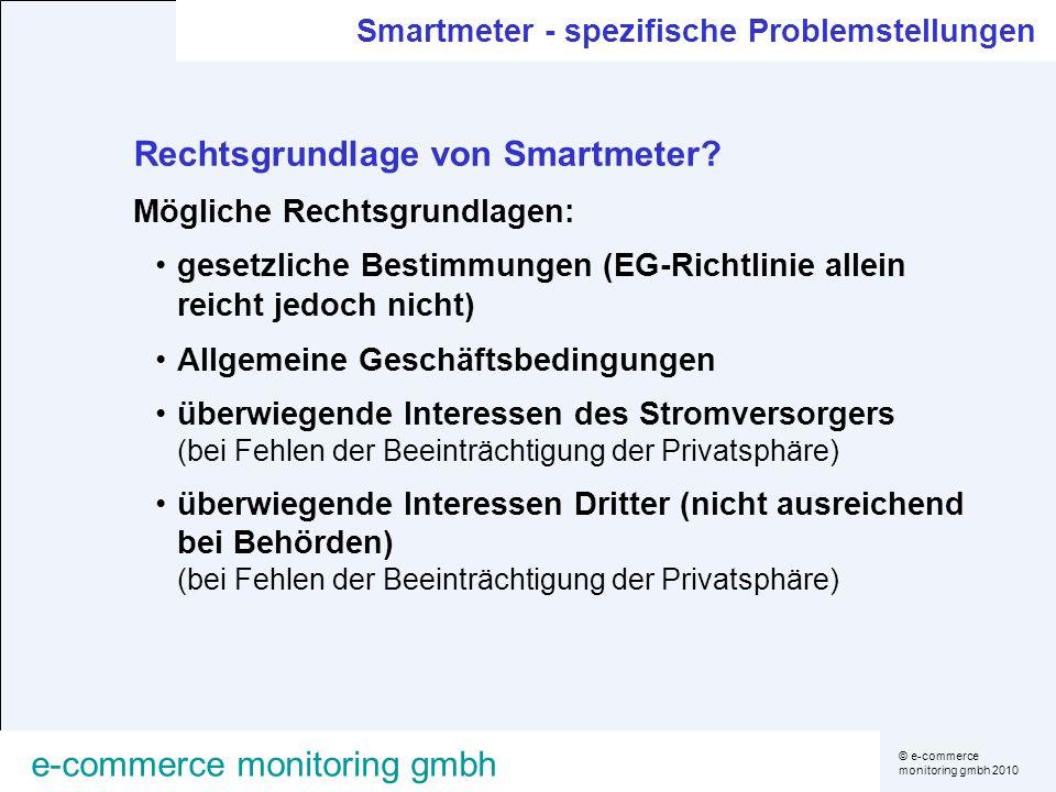 Rechtsgrundlage von Smartmeter