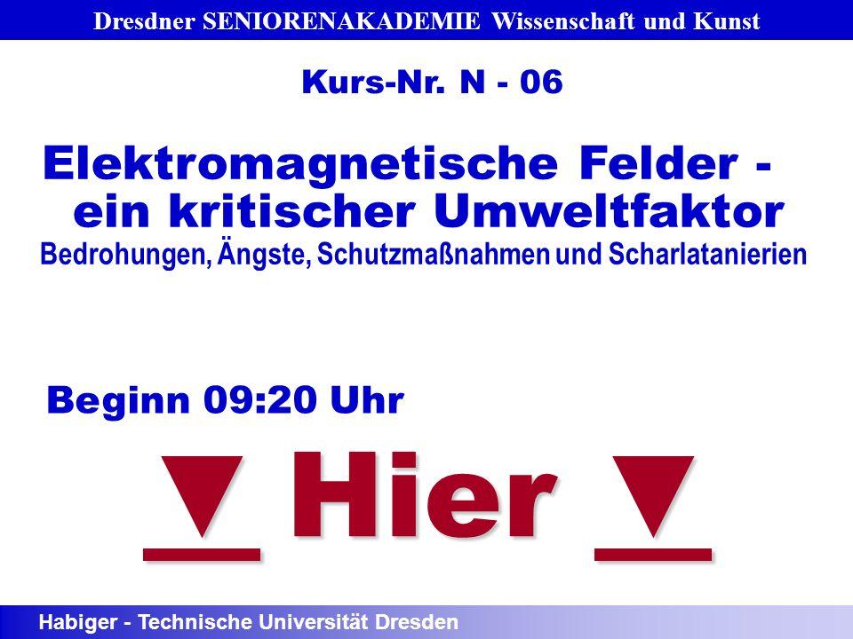 Dresdner SENIORENAKADEMIE Wissenschaft und Kunst