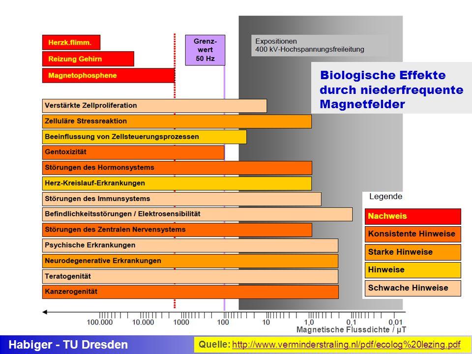 Biologische Effekte durch niederfrequente Magnetfelder