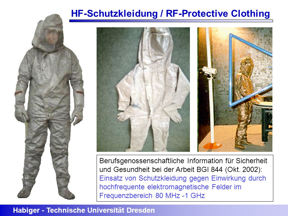 HF-Schutzkleidung / RF-Protective Clothing