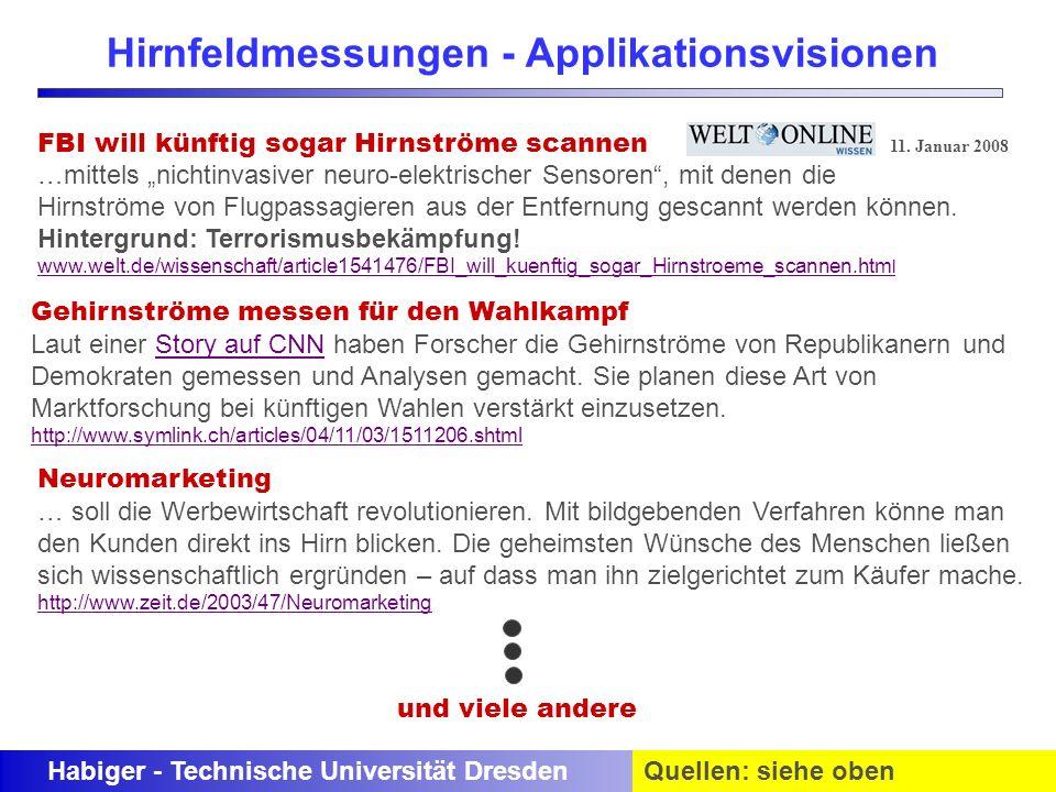 Hirnfeldmessungen - Applikationsvisionen