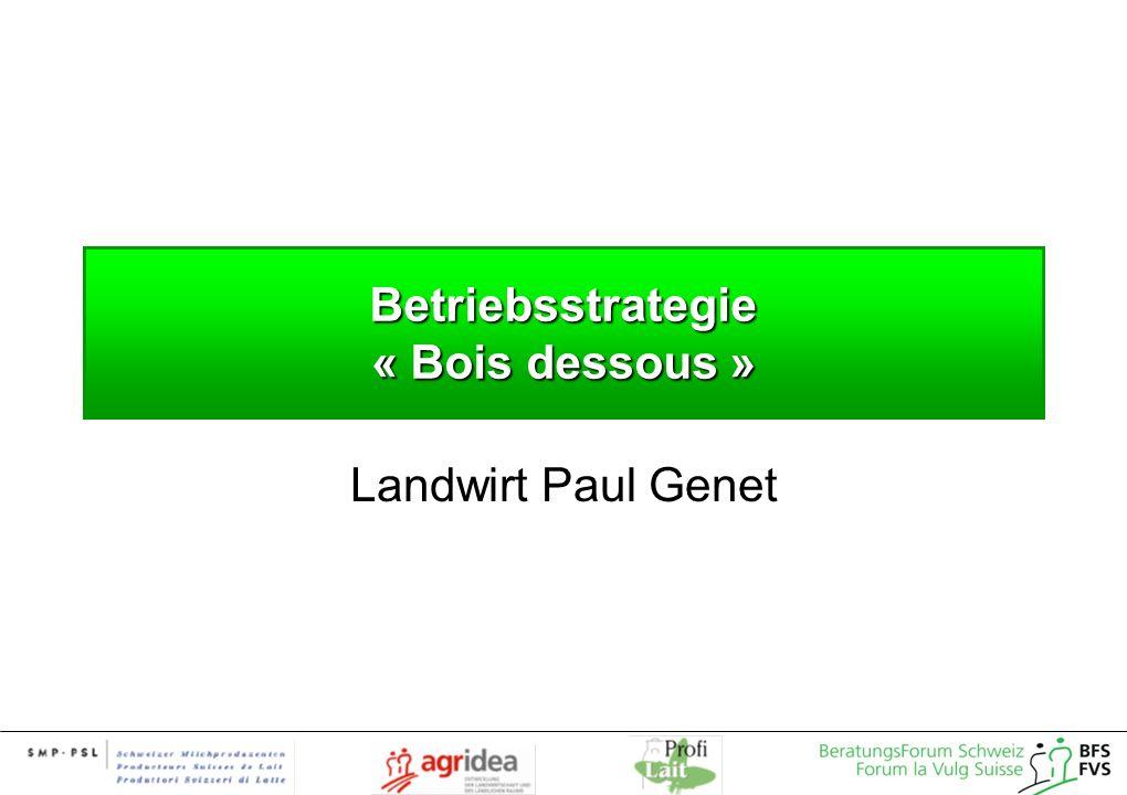 Betriebsstrategie « Bois dessous »