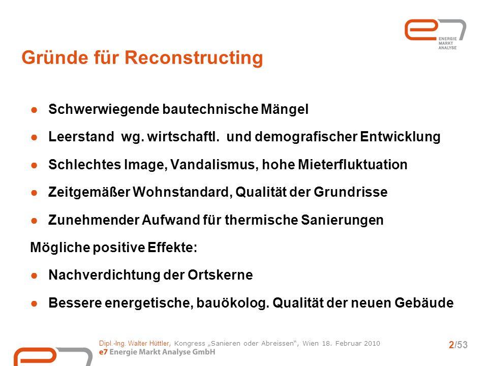 Gründe für Reconstructing