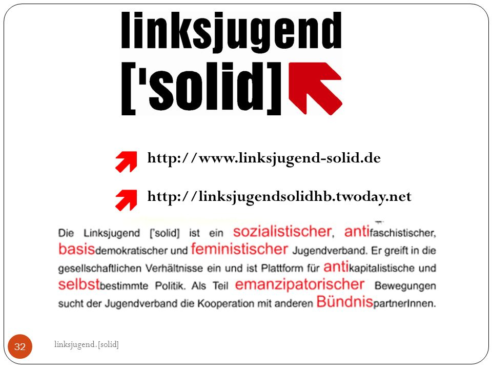 http://www.linksjugend-solid.de http://linksjugendsolidhb.twoday.net