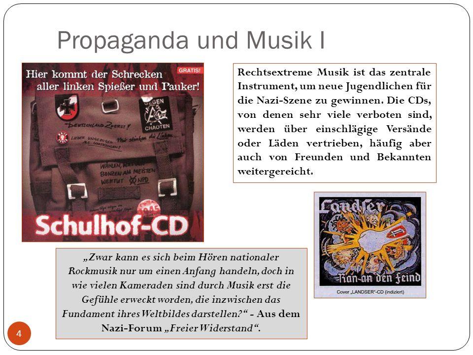 Propaganda und Musik I