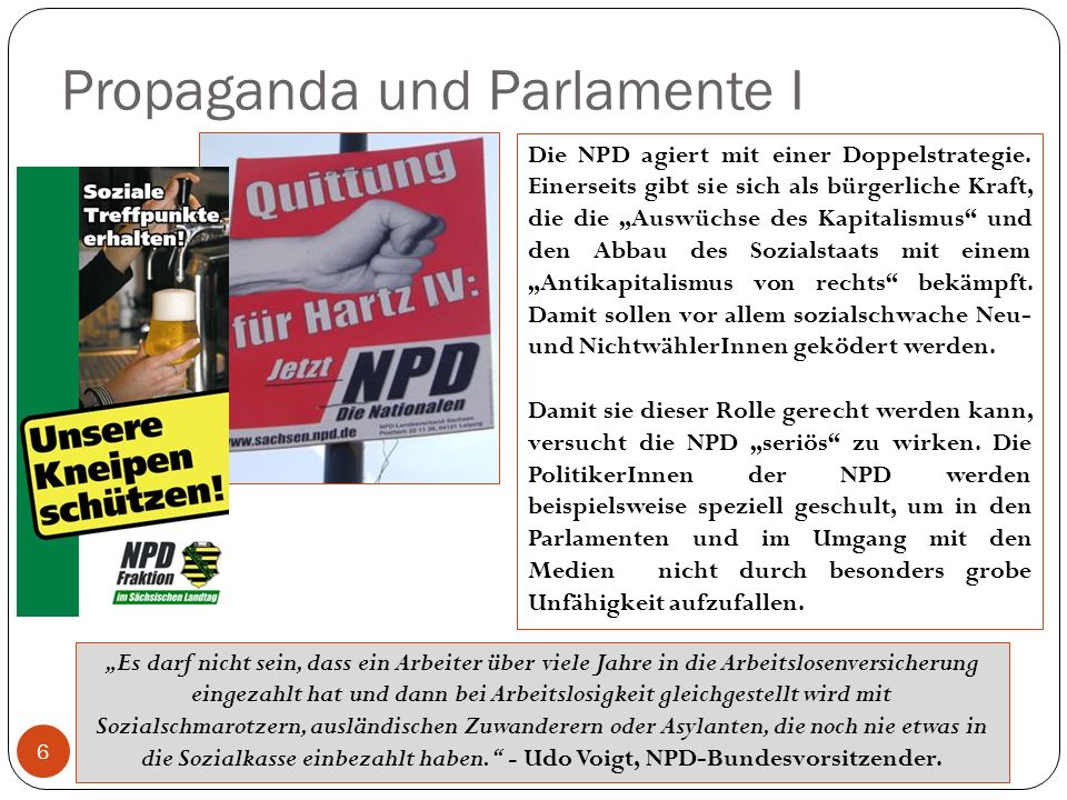 Propaganda und Parlamente I