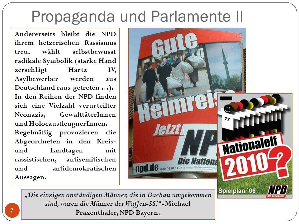 Propaganda und Parlamente II