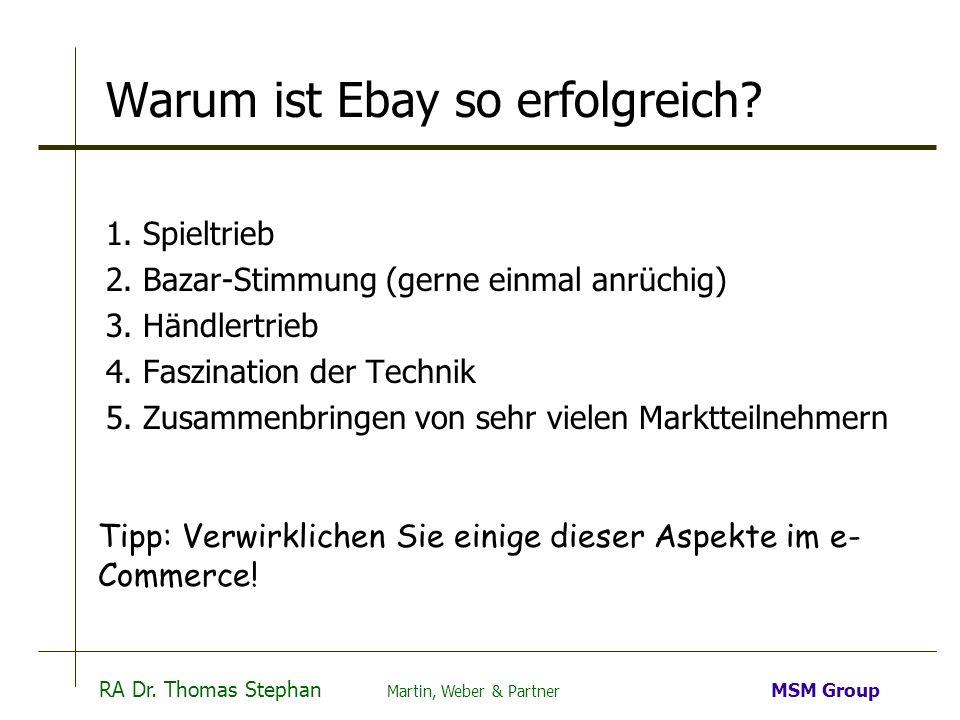 Warum ist Ebay so erfolgreich