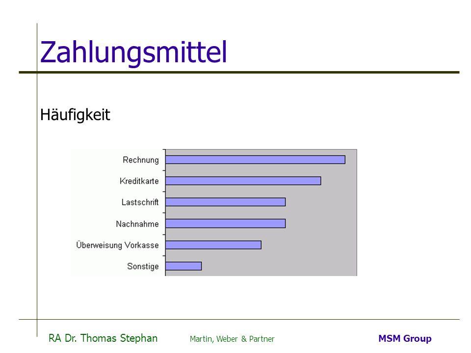 Zahlungsmittel Häufigkeit Befragung deutscher Unternehmen