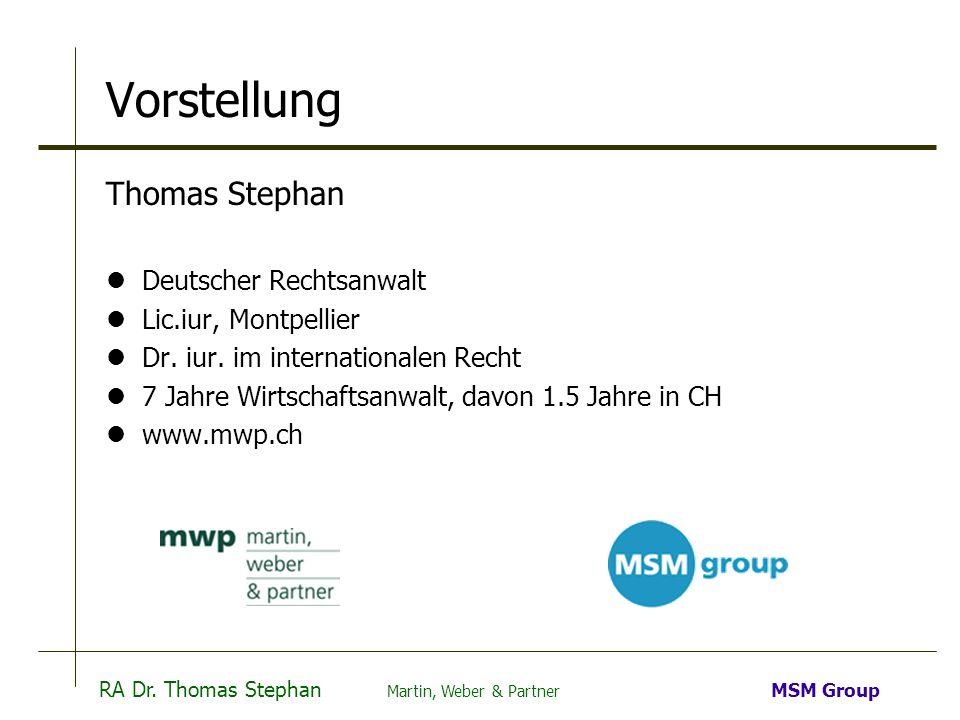 Vorstellung Thomas Stephan Deutscher Rechtsanwalt Lic.iur, Montpellier