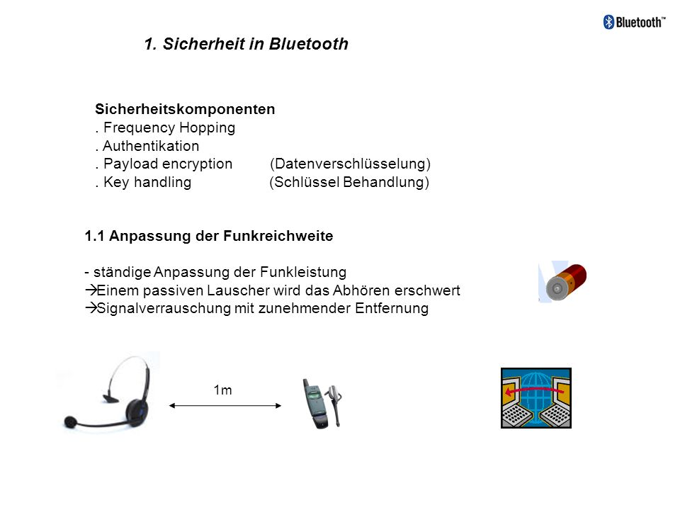 1. Sicherheit in Bluetooth