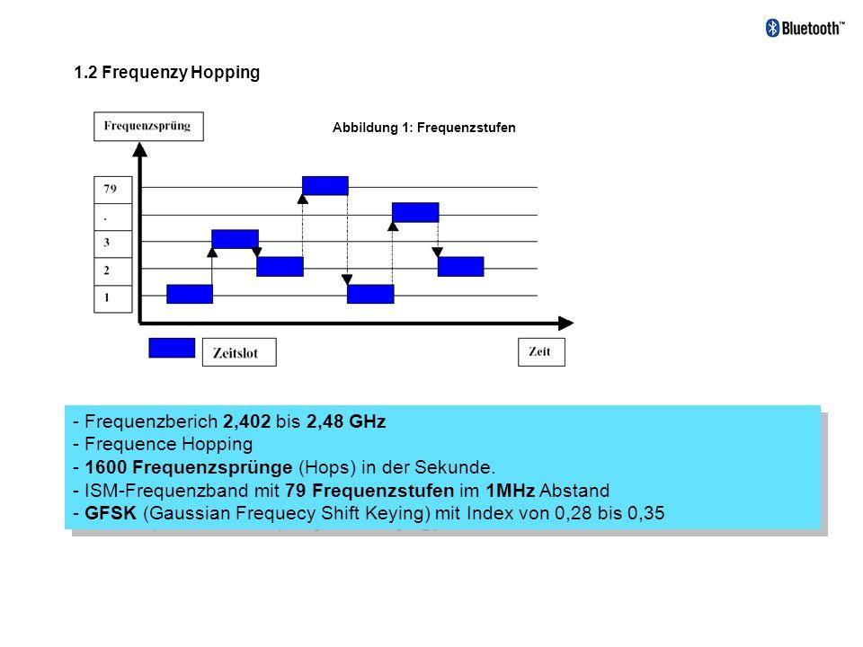 - Frequenzberich 2,402 bis 2,48 GHz