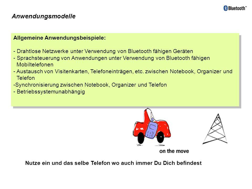 Anwendungsmodelle Allgemeine Anwendungsbeispiele:
