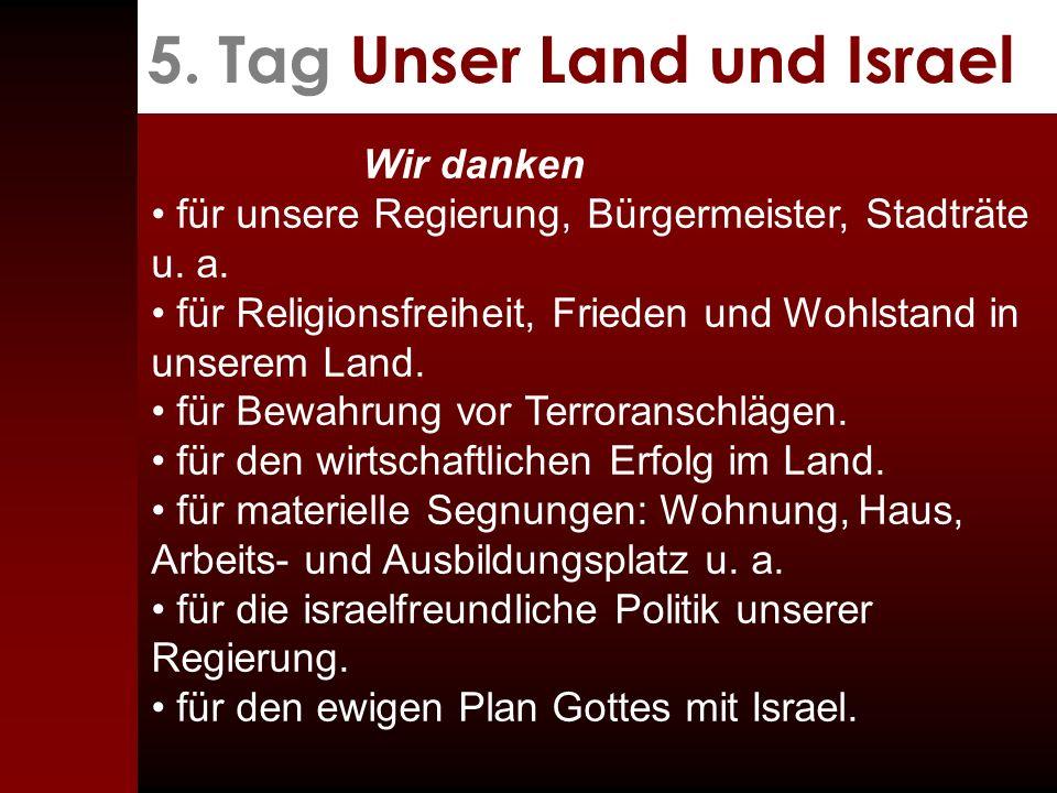 5. Tag Unser Land und Israel