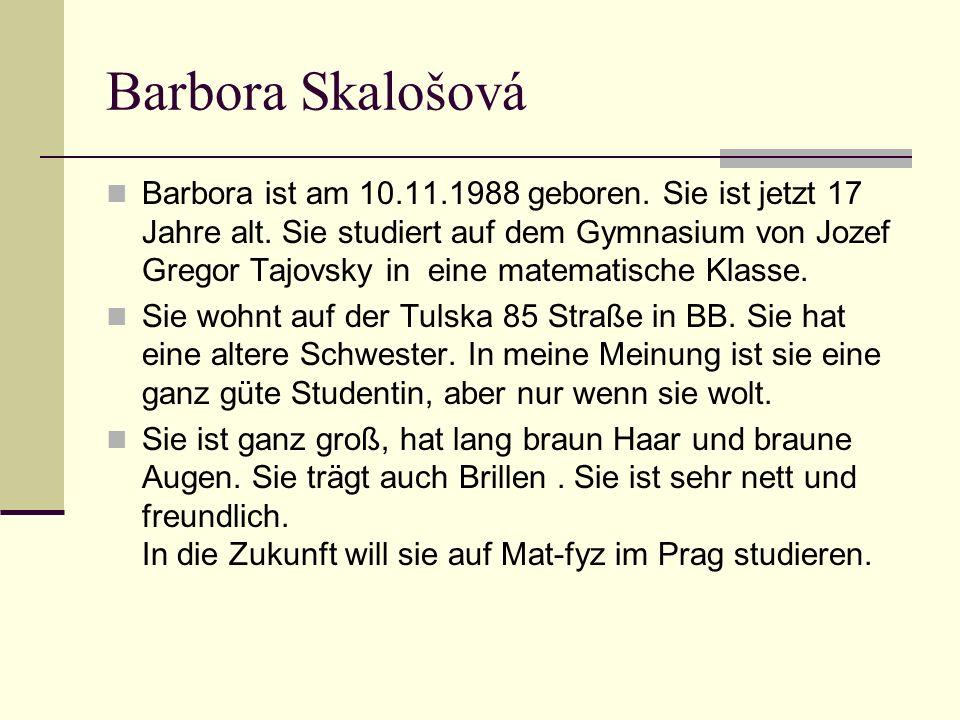 Barbora Skalošová