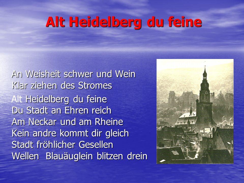 Alt Heidelberg du feine