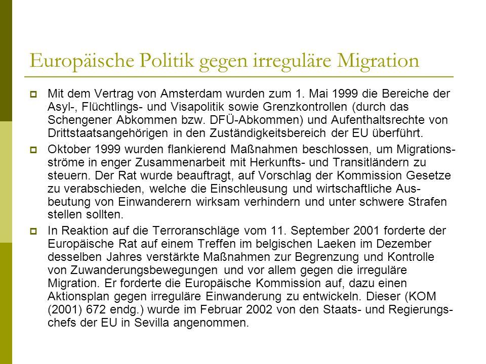 Europäische Politik gegen irreguläre Migration