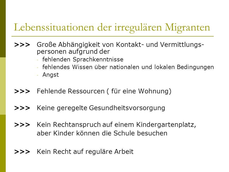Lebenssituationen der irregulären Migranten