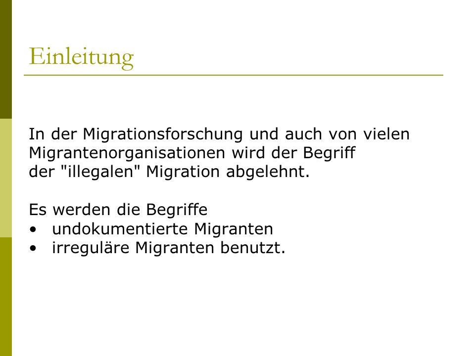 Einleitung In der Migrationsforschung und auch von vielen