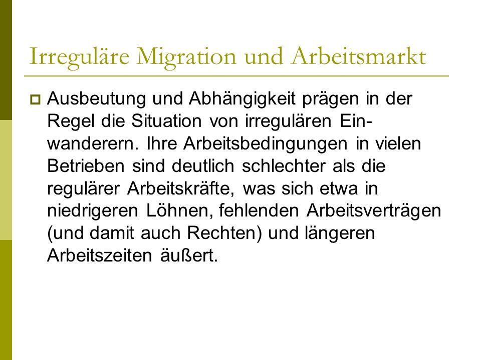 Irreguläre Migration und Arbeitsmarkt