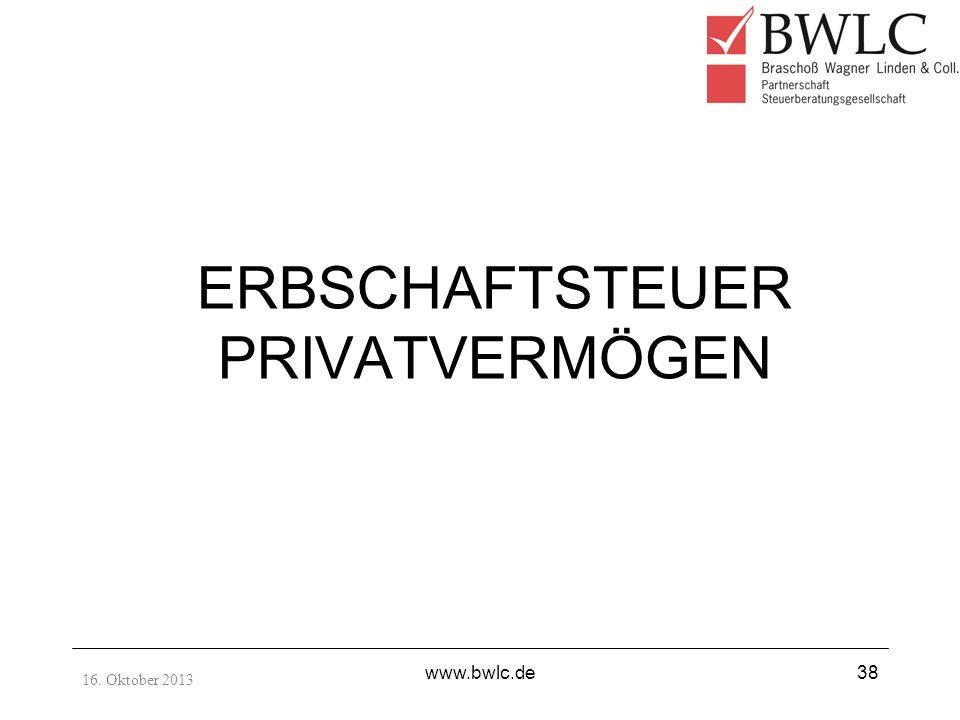 ERBSCHAFTSTEUER PRIVATVERMÖGEN