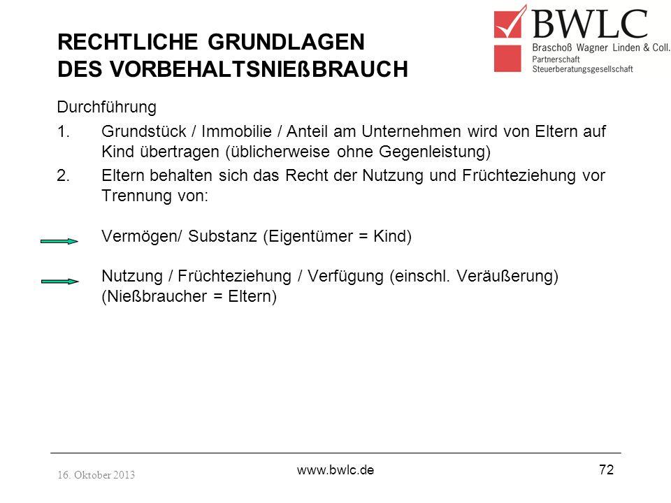 RECHTLICHE GRUNDLAGEN DES VORBEHALTSNIEßBRAUCH