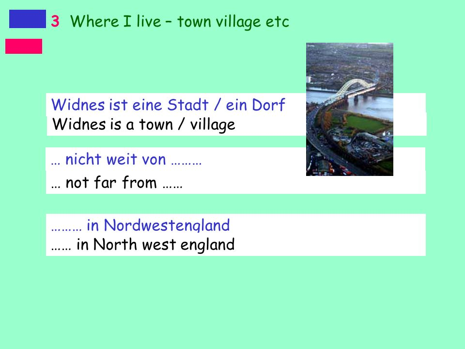 3 Where I live – town village etc
