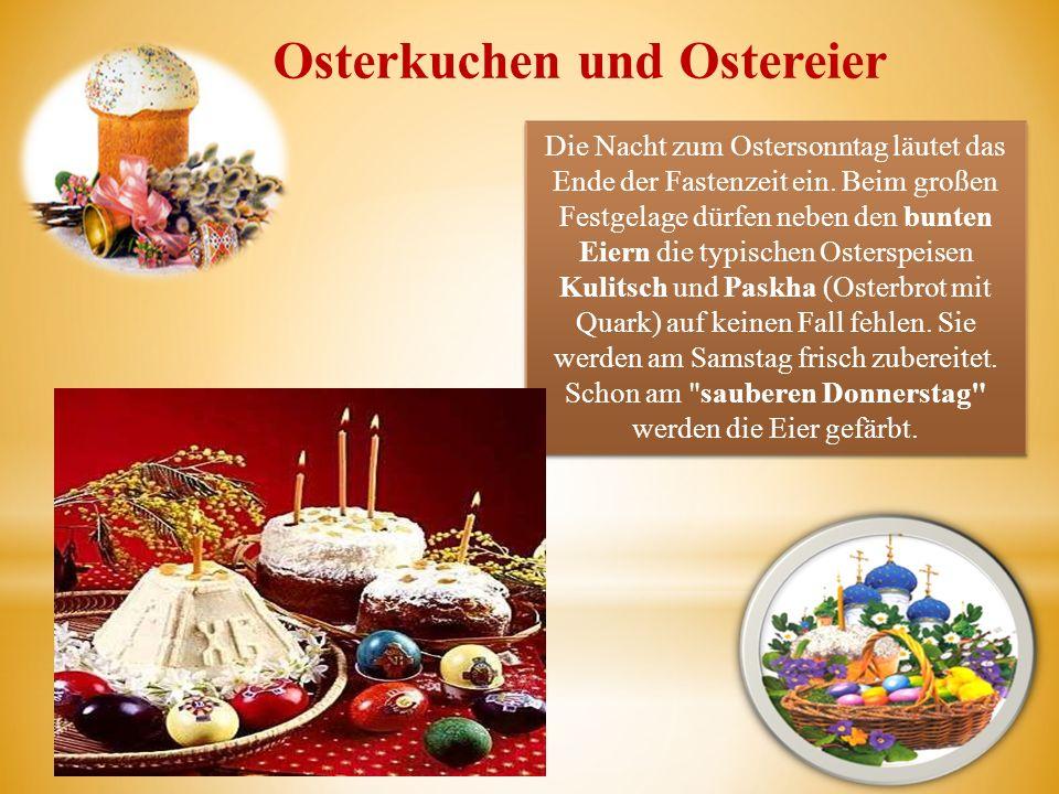 Osterkuchen und Ostereier