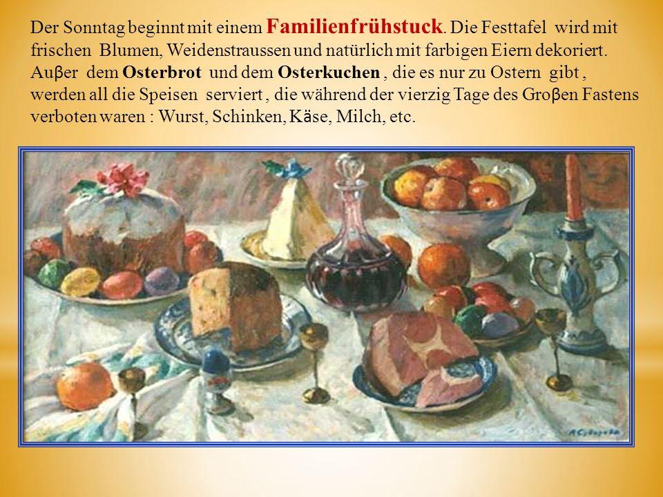 Der Sonntag beginnt mit einem Familienfrühstuck