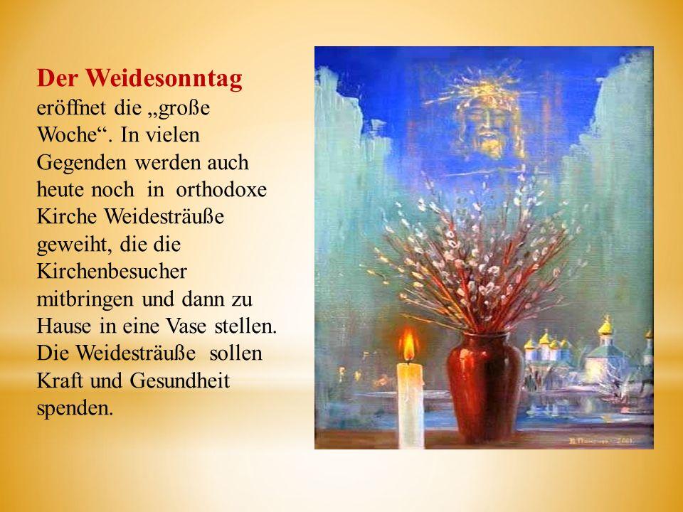 """Der Weidesonntag eröffnet die """"große Woche"""
