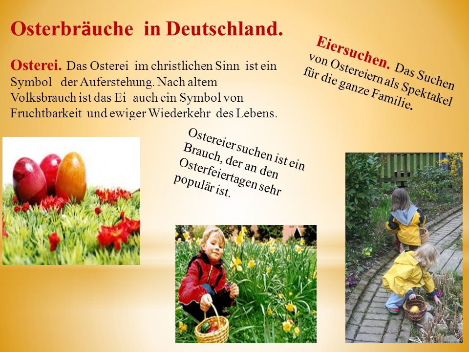 Osterbrӓuche in Deutschland.