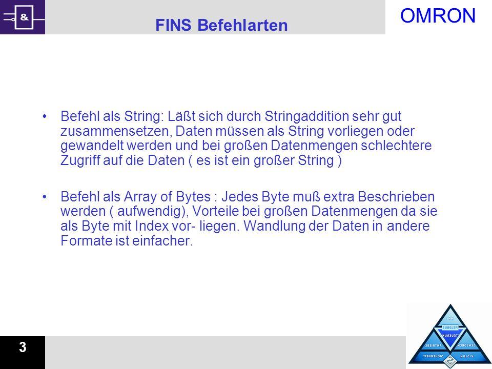 FINS Befehlarten