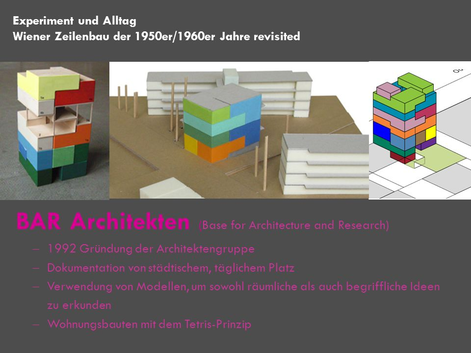 BAR Architekten (Base for Architecture and Research)