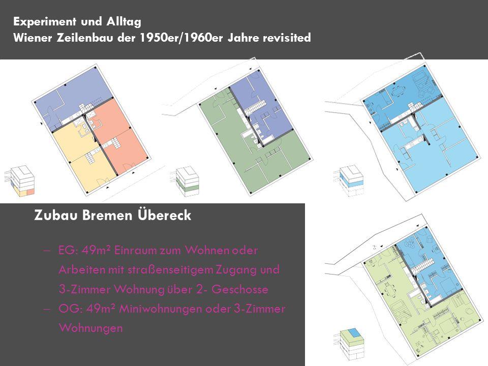 Zubau Bremen Übereck Experiment und Alltag