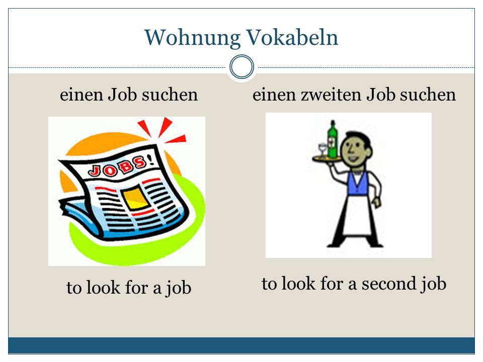 einen zweiten Job suchen