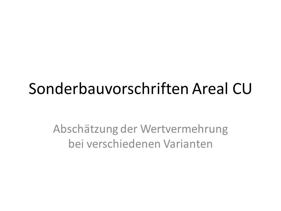 Sonderbauvorschriften Areal CU