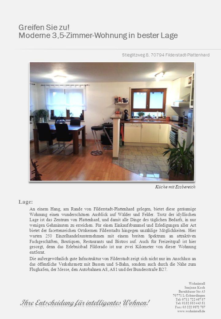 Moderne 3,5-Zimmer-Wohnung in bester Lage