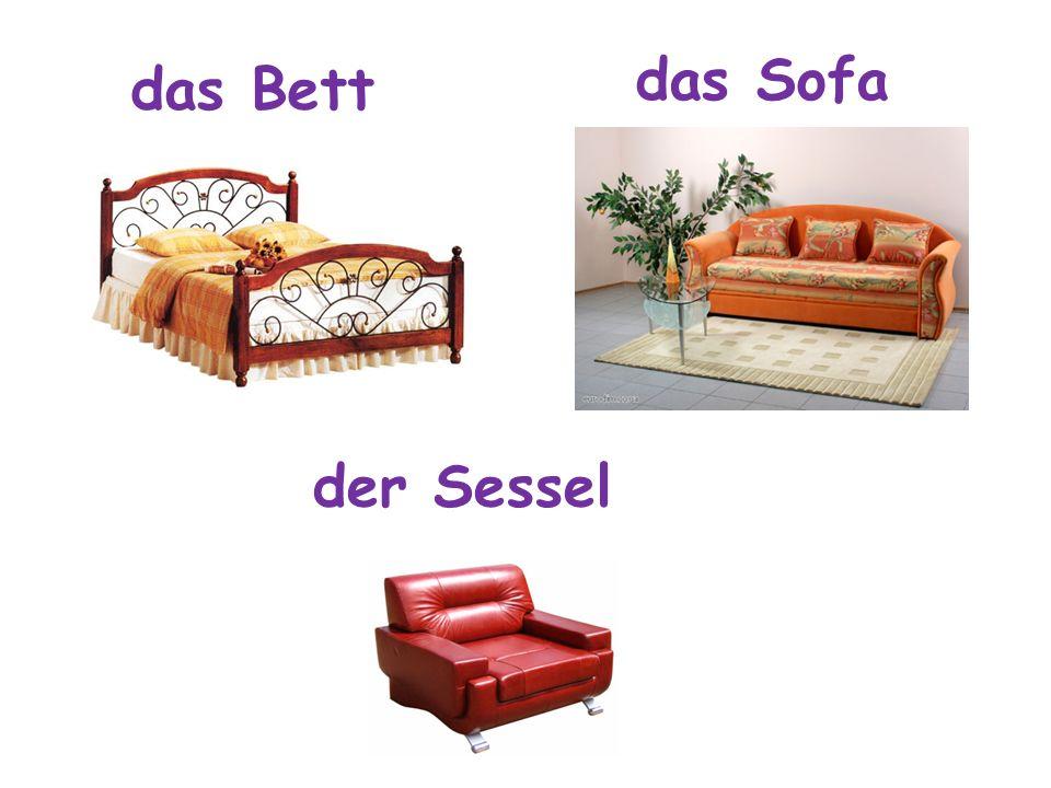 das Sofa das Bett der Sessel