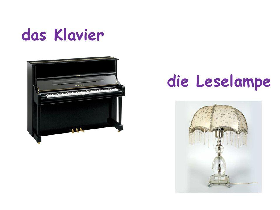 das Klavier die Leselampe