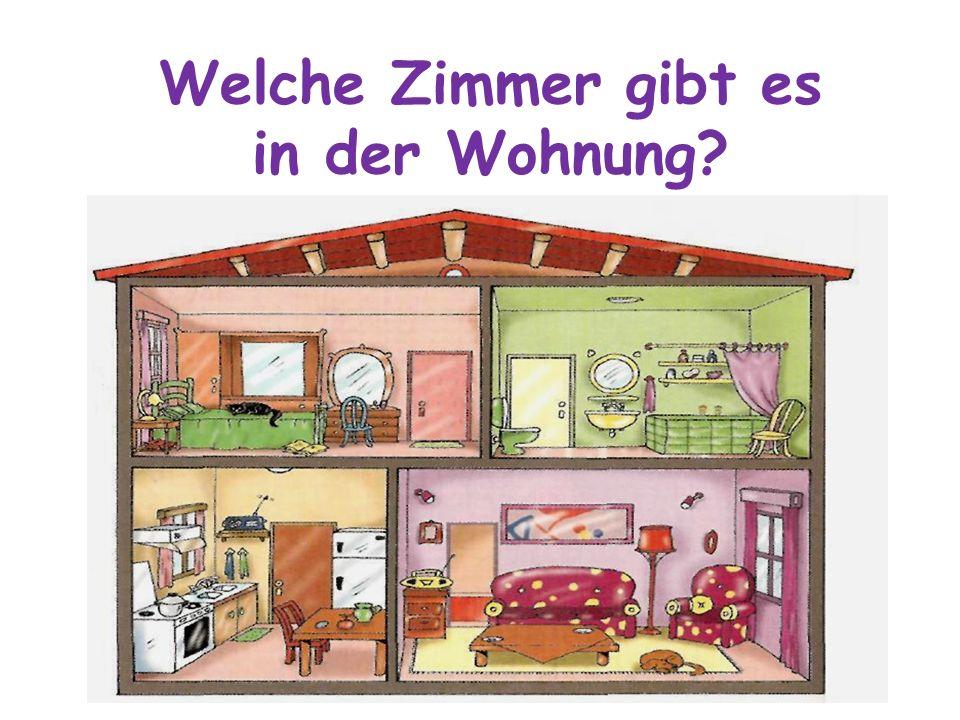 Welche Zimmer gibt es in der Wohnung