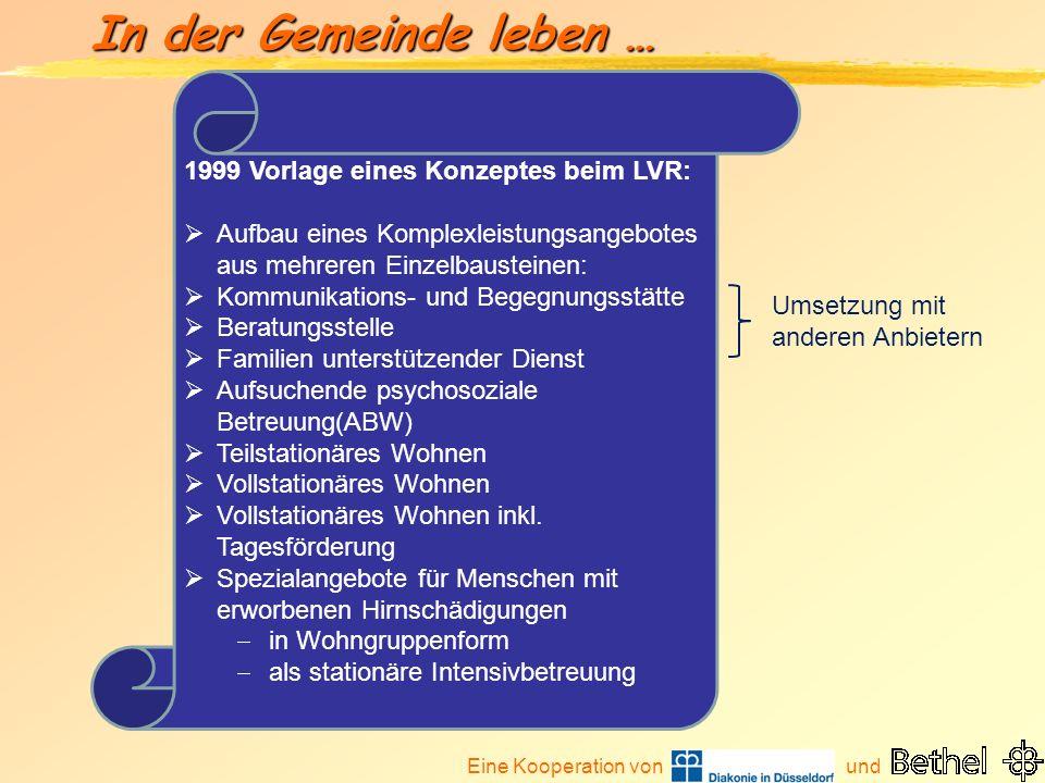 1999 Vorlage eines Konzeptes beim LVR: