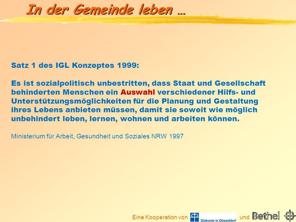 Satz 1 des IGL Konzeptes 1999: