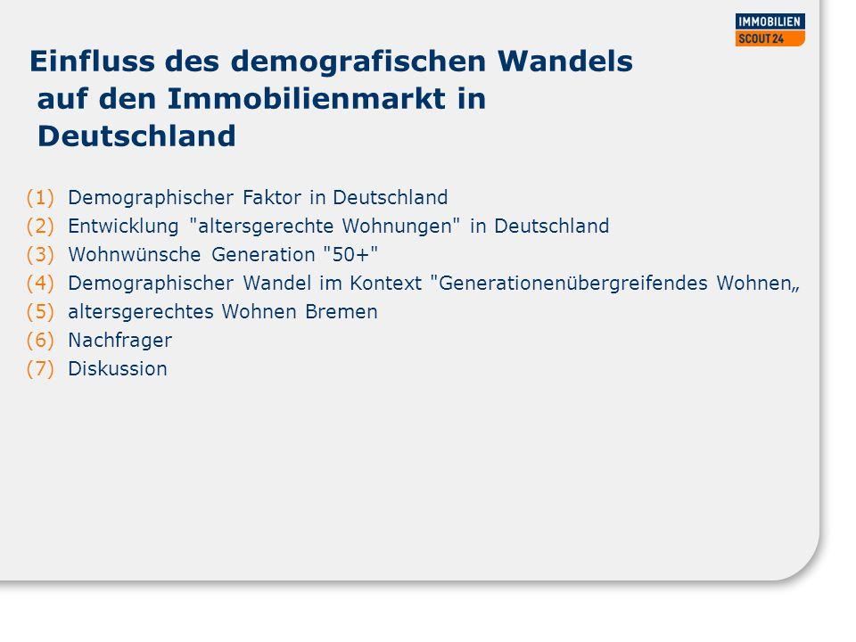 28.03.2017 Einfluss des demografischen Wandels auf den Immobilienmarkt in Deutschland. Demographischer Faktor in Deutschland.