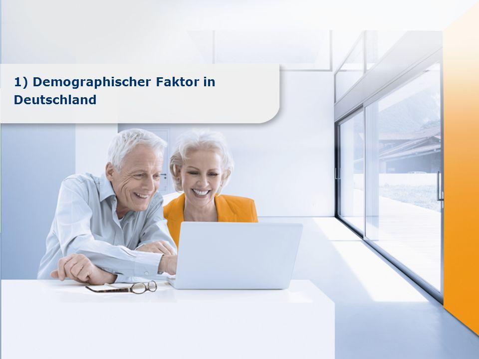 1) Demographischer Faktor in Deutschland